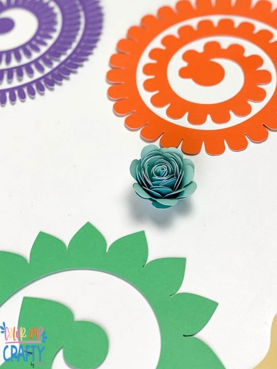 paper flower on a white background