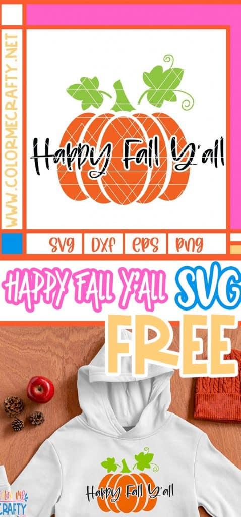 pinnable happy fall yall svg file