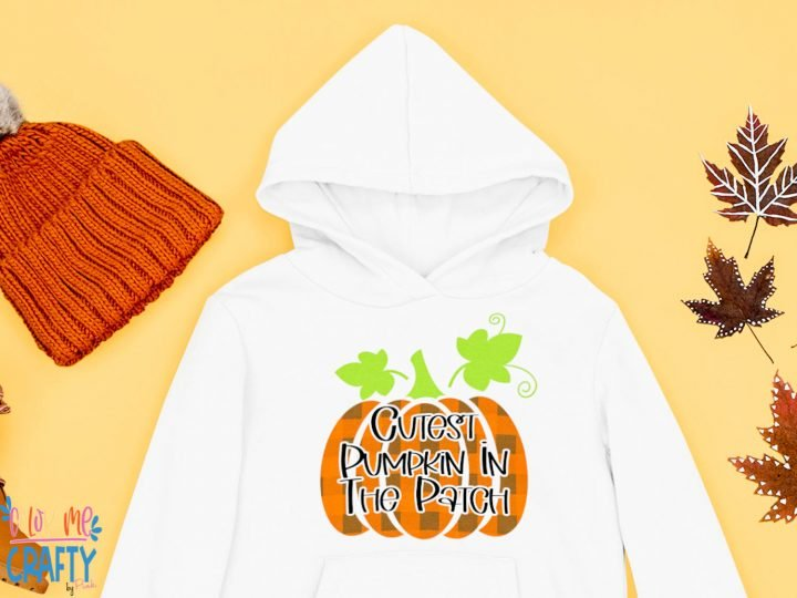 cutest pumpkin in the patch on a hoodie