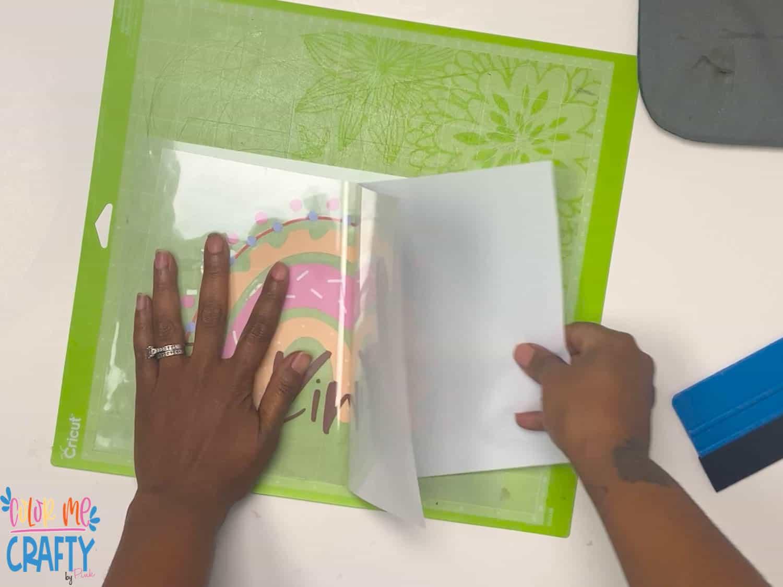 applying masking tape to easysubli